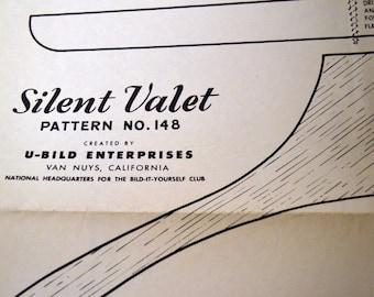Vintage Wood Working Pattern Silent Valet No. 148 U-Bild Enterprises