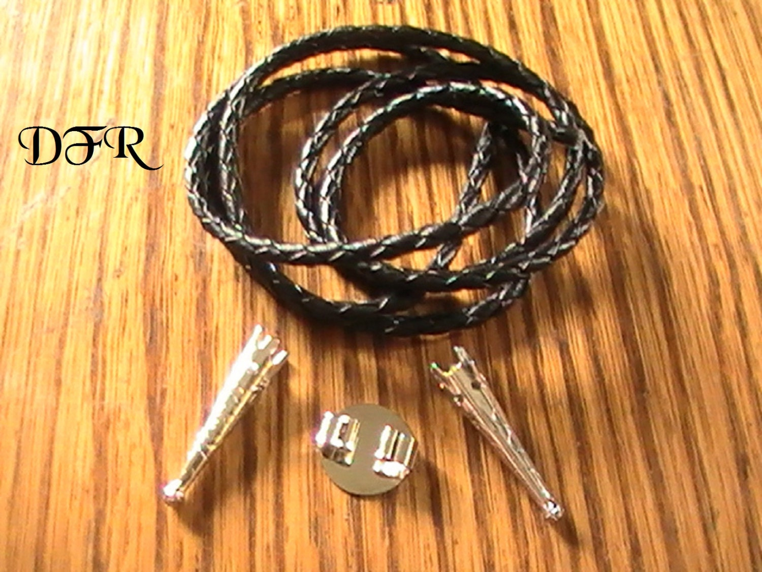 Bolo tie kit silver gold diy jewelry supplies by for Wholesale leather craft supplies