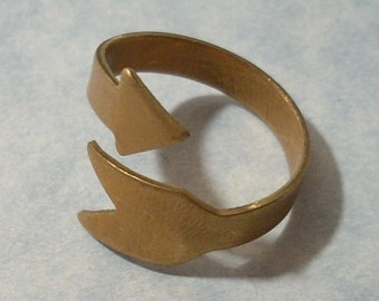 Arrow Ring Band Adjustable Ring Brass Ring Blank