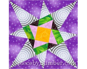 Counterpoint Star quilt block pattern, paper pieced quilt patterns, instant download PDF patterns, star quilt patterns, star patterns