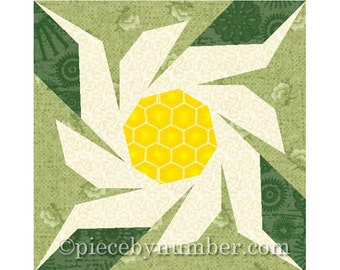Edelweiss flower quilt block pattern, paper piecing patterns, garden quilt paper pieced flower quilt pattern PDF quilt pattern Switzerland