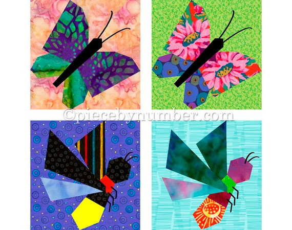 Butterfly & Firefly quilt block patterns paper pieced quilt : butterfly quilt blocks - Adamdwight.com