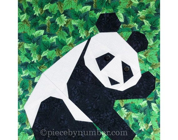 Panda Quilt Block Pattern Paper Pieced Quilt Patterns Instant