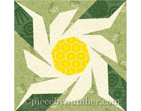Edelweiss flower quilt block pattern paper piecing patterns