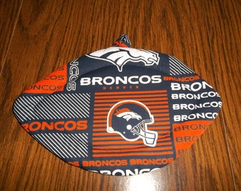 Denver Broncos, Quilted Pot Holders, Potholders Hot Pads, Trivet Football Shaped, Football Decor Cotton Fabric Double Insulated Hostess Gift