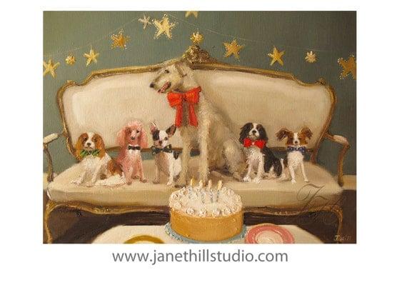 Douglas' Birthday Party At Black Walnut Manor.  Formal Attire.- Limited Edition Print