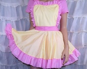 MLP Fluttershy Pink Yellow Pinafore Apron Costume Skirt Adult All Sizes- MTCoffinz