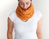 Halloween Orange Cowl - Scarf by Afra