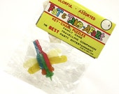 Reserved for Ronny..Please do not Purchase..1970s Dragonfly Take Apart Puzzle Keychain in Original Wrapper with Instructions... Nadel & Sons