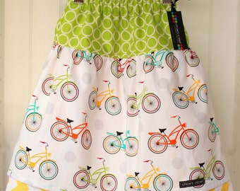 Twirl Skirt...Let's ride bikes...SIZE 4T