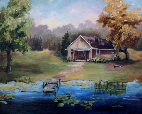 Cabin landscape painting bing images for 24x30 cabin