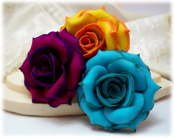Tipped Rose Hair Pins - More Colors