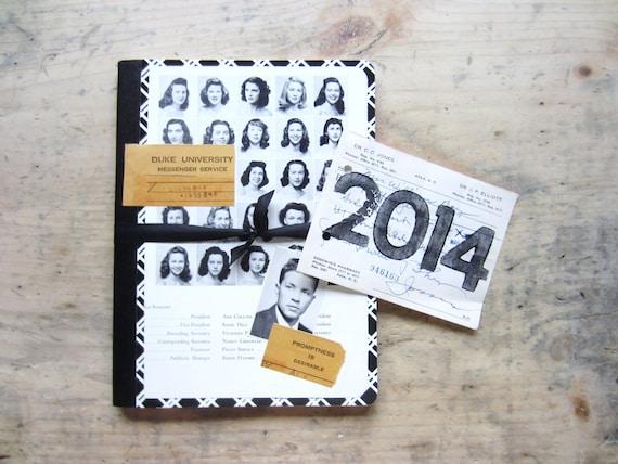 Get Organized- Vintage Yearbook Journal, Notebook