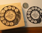 Phone dial rubber stamp  P7