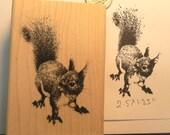 Squirrel rubber stamp  P11