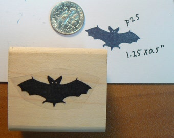 Halloween bat rubber stamp P25