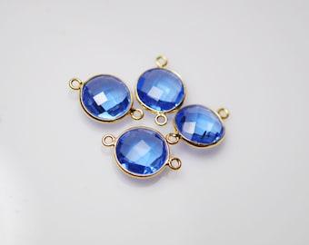 2 periwinkle Blue color matching connectors in vermeil 18.00