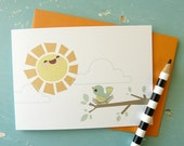 Sunshine and Bird Note Card