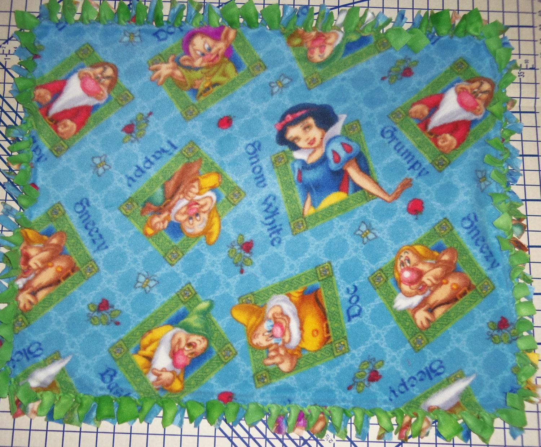 Disney Princess Snow White And The Seven Dwarfs Blue Fleece