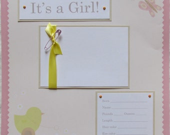 20 BABY GIRL Scrapbook Pages for 12x12 FiRsT YeAr ALbUm -- sweet vintage inspired --