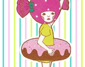 Sticker of Candy Girl