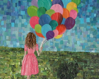 girl with balloons (11x14 print)