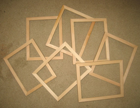 9 Unfinished 8x10 Wood Picture Frames By Niceframes On Etsy