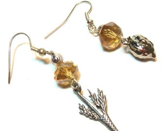 Jewish Earrings Sukkot - Lulav and Etrog