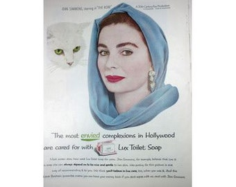 Jean Simmons The Robe Lux Soap 1950s Vintage Advertising E115
