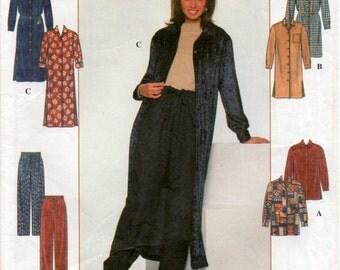 1997 sewing pattern SIMPLICITY 7902 shirt dress, shirt and draw string pants Medium Sizes