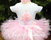 First Birthday Outfit Girl, Personalized First Birthday Tutu, Baby Girl Pink Tutu