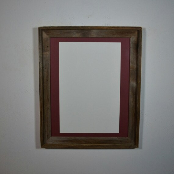 16x20 Wood Frame With 12x18 Mat For Art Posters By Barnwood4u