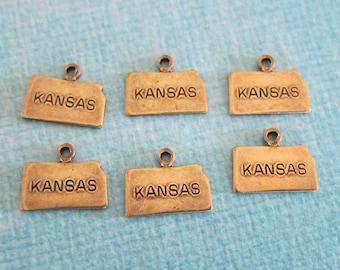 SALE 6 Brass Kansas Charms 3210KS