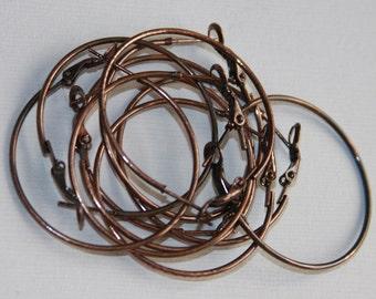 10 pcs of Antiqued copper Earrings Hook 35mm