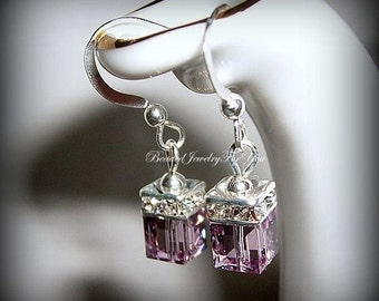 Bridesmaid Earrings: Amethyst Bridal Earrings, Wedding Jewelry, Wedding Earrings, Mother of Bride, Bridesmaid Jewelry, Bridal Party Jewelry