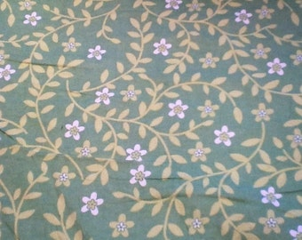 GREEN FLOWERS flannel lounge pants/pajama pants children's sizes 0-3 to size 16.  Contact me for adult sizes small to 3x.