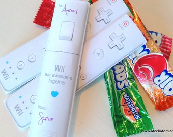 INSTANT DOWNLOAD - Wiimote Remote Valentine for Airheads - Printable Set