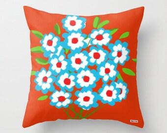 16X16 Decorative throw pillow cover - Bunch pillow cover - Modern pillow cover- Colorful pillow cover