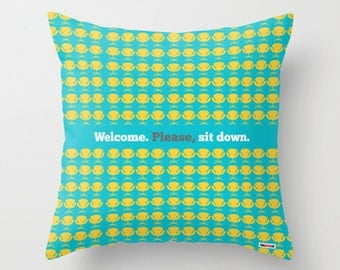 Cool Chairs Decorative throw pillow cover - Welcome pillow cover - Modern pillow cover
