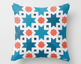 Decorative pillow cover - Morocco Cushion cover - Mosaic pillow cover - African pillow - Colorful Pillow - tribal bedding