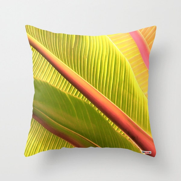 Tropical Throw Pillow Covers : Tropical Decorative throw pillow cover green pillow cover