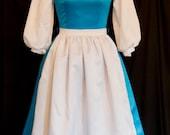 DELUXE Adult Blue BELLE Blue Provincial Costume CUSTOM Size