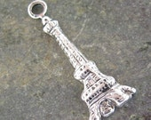 Eiffel Tower Paris Charm Antique Silver Jewelry Finding 1270 - 6 pieces