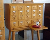 Library Catalog Card Index, Mid-Century with Writing Pull-outs
