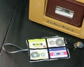 Vintage tape Pacifier clip