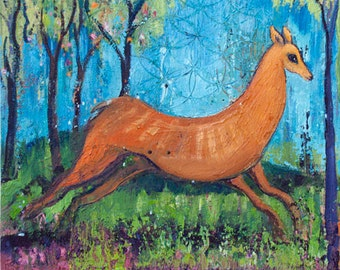 Tree Art Images - Deer in the Forest