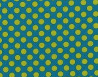 Cotton Teal Green Polka Dot Fabric by the Yard - Lagoon Ta Dot by Michael Miller