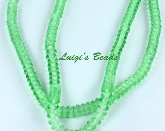 100 Peridot Czech Glass Rondelle Spacer Beads 4mm