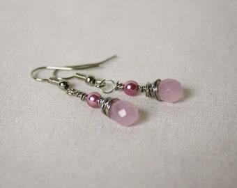 Dainty Drops Wire Wrapped Briolette Earrings