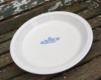 Vintage Cornflower Blue Corning Ware Pie Plate